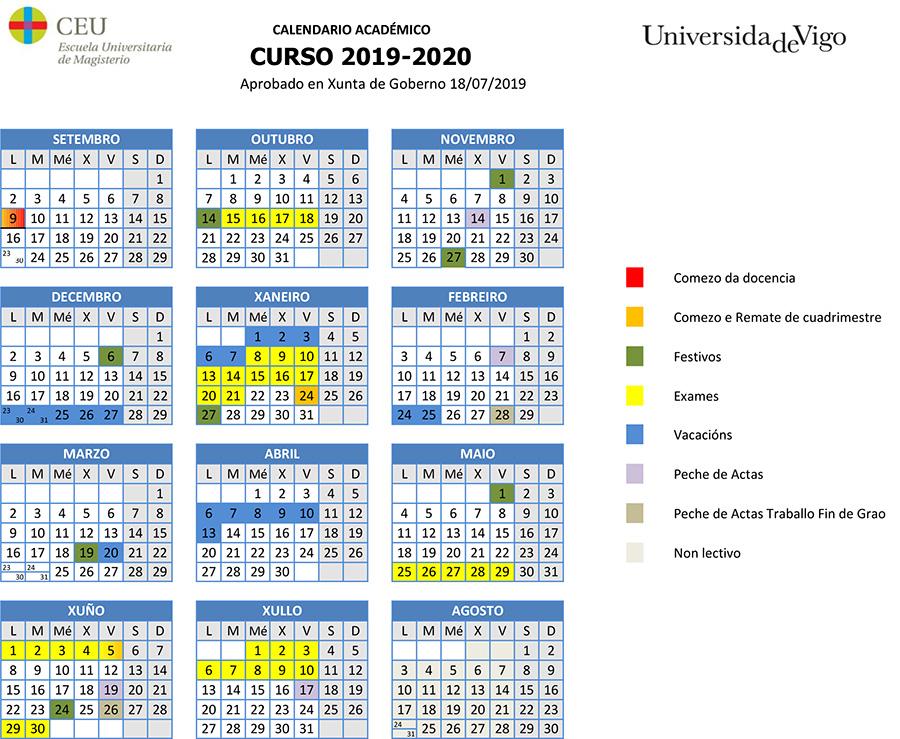 Calendario Universitario.Organizacion Academica Escuela Universitaria Ceu De Magisterio