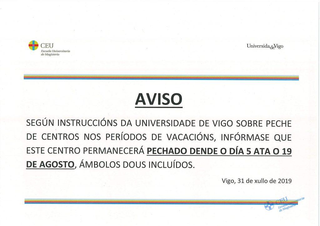 Calendario Festivos Vigo 2020.Escuela Universitaria Ceu De Magisterio Escuela Universitaria Ceu