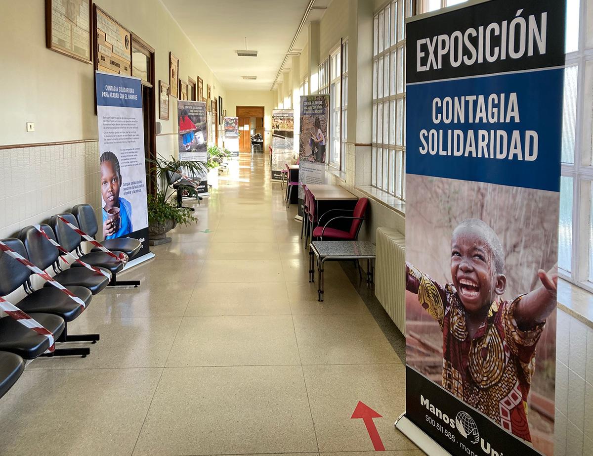 Acércate a la exposición «Contagia solidaridad para acabar con el hambre»